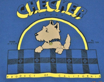 "VTG Sweatshirt,Chest 44"" to 46"" ,Waist 30"" to 32"",Made in the USA,Checker Brand Product of California,Scottie Dog"