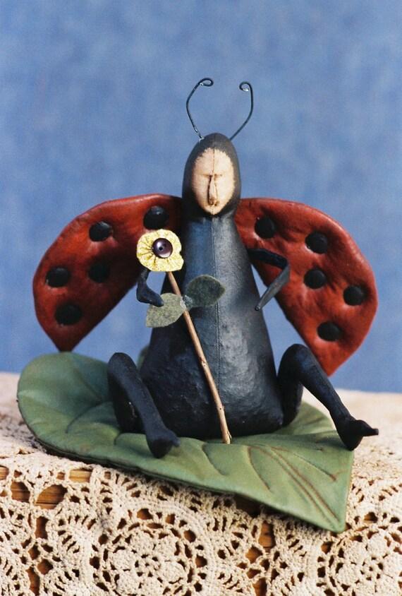 Lady Bug - Cloth Doll E-Pattern - Lady Bug doll pattern