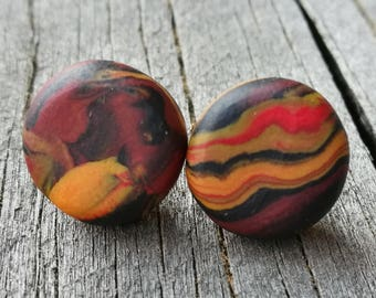 Stud Earrings- Polymer Clay