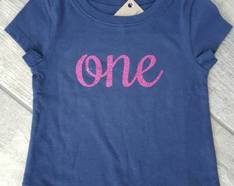 SALE - Reg. 26 dollars - ONE - girls toddler T-shirt - ONE Of A Kind - children / baby accessories - size 12-18 months