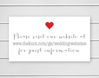Wedding Website Stickers, Wedding Invite Labels, Wedding Info Stickers (#341)
