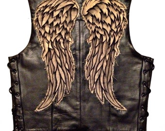 Daryl Dixon Vest with Angel Wings - Economy Version