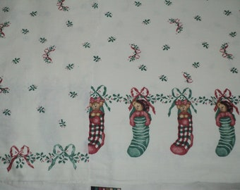 NEW Handmade Daisy Kingdom Stocking Bears Christmas Dress Custom Size 12M-14Yrs