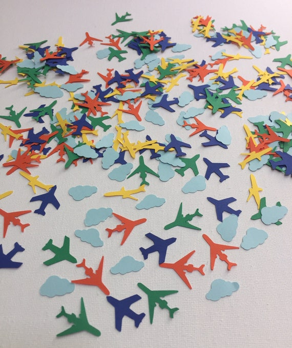 Airplane Birthday Decorations Airplane Confetti Boys Birthday