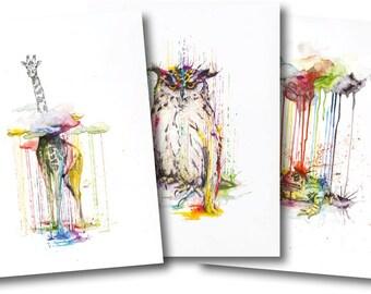 RAINING COLOURS TRILOGY *Limited Edition Giclée Print on Watercolour Paper - 300gsm.
