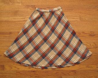 womens vintage tartan skirt
