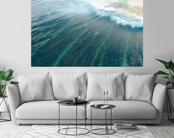 Surfer Ocean Waives Sport Surf Art Print Wall Decor Poster Size: 48 x 72 - 3XL