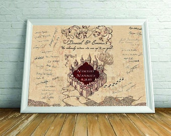 Marauder's Map Guestbook Alternative