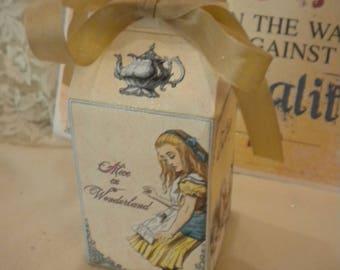 Alice in Wonderland Party Favor Milk Carton Box (4)