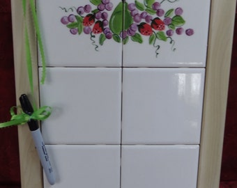 Note Tiles Hand Painted
