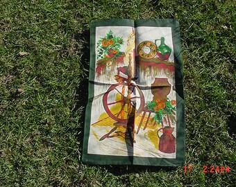 Vintage Spinning Wheel Dish Towel  17 - 1211