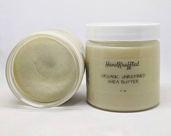 Unrefined Shea Butter 4 oz - Organic Shea Butter - Raw Shea Butter - DIY Skincare Supply - Organic Vegan Pure Moisturizer - DIY Soap Supply