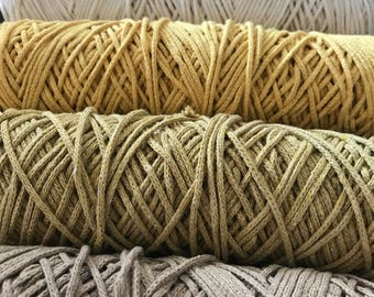 3 mm Cotton cord, 25mt-50 mt. Cotton macrame yarn, %100 cotton, macrame rope, cotton yarn, macrame, macrame cord, rope cord, cotton cord,3mm