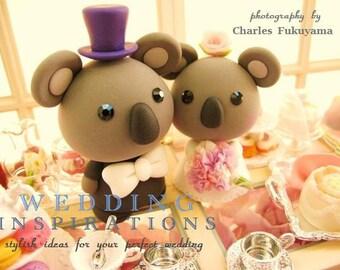 koala  Wedding Cake Topper-love Koala---k783