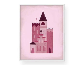 Pink Castle Wall Art - Print