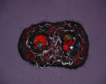 SOLD.Felted brooch Women felted accessory original accessory