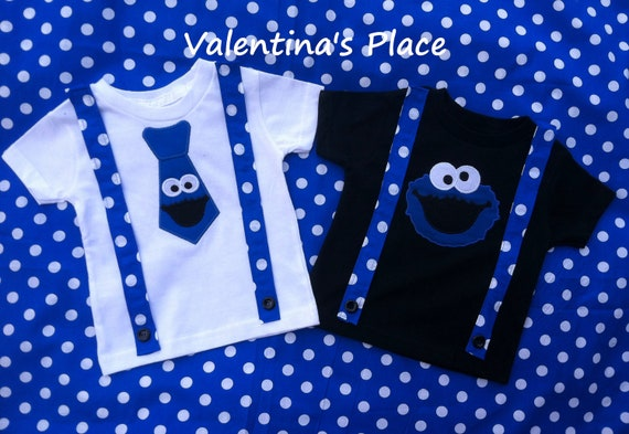 Cookie monster t shirt with tie or cookie monster head like this item voltagebd Images