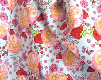 Stenzo European Fabric Little Girls w Roses 60 inches wide quality cotton