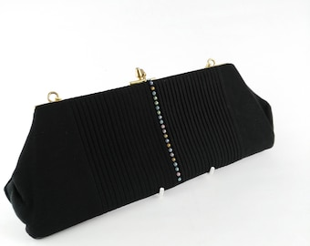 Diamante Evening Bag - Small Evening Bag - Gift for Women - Mother's Day Gift - Evening Clutch Bag - Red Carpet Bag - Black Evening Bag