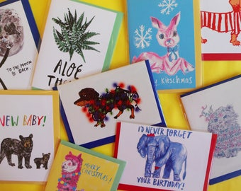 Mix and Match; 3 for 2 on Greeting Cards