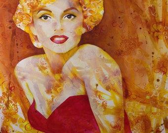 Marilyn - Marilyn Monroe - Norma Jean - Actress - Icon - Movie Star - Glamour - Star - Beauty - Feminine - Portrait - Michelle Gilks