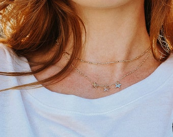 Linked Chain Choker Simple Jewelry Minimalist Necklace Layering Necklace Delicate Chain Choker