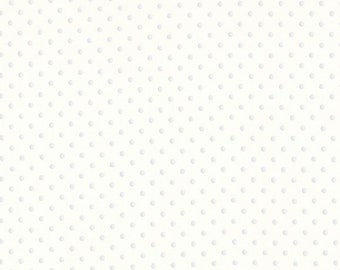 "End of Bolt 2 yards 24"" of Michael Miller Petit Point Cream with White Dots SG4607-VANI-D"