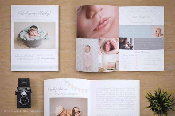 Newborn Magazine Template Newborn Photography Magazine