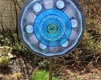 Glass Garden Flower.....Cobalt Blue #2