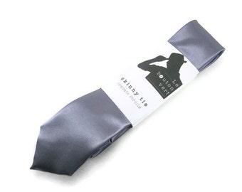 Gray skinny tie