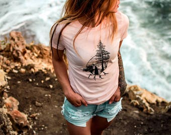 "Surf Bliss Tee in ""Coral"""