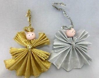 Vintage Handmade Christmas Angel Ornaments  HO631