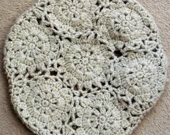 Crochet beret motif design