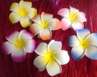 """EXTRA LARGE, 6.5"""" foam flower. Perfect for decorations, wedding favors, luau, beach wedding, birthday party or any Polynesian events."""