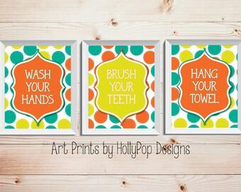 Bright Colorful Childrens Bathroom Decor Bathroom Manners Set