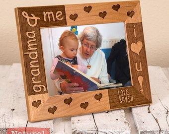 Grandma Mothers Day Gift - Personalized Gifts for Grandma -Grandma & Me Picture Frame - Grandma and Me - Christmas Grandma Gift