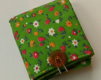 Folding Mini Tea Wallet Green Floral