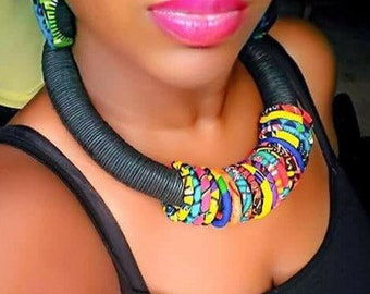 Geniuine African Beaded Necklace - Made in Africa