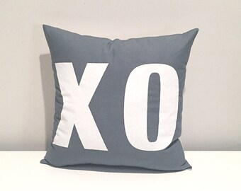 XO pillow. VALENTINE'S DAY kiss hug valentine's day pillow for decoration or gifting. screen printed pillow decor.
