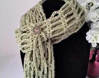 Infinity Scarf, Crochet Infinity Scarf, Infinity Chain Scarf, Crochet Scarf
