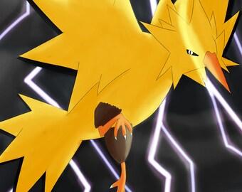 Pokemon Go Team Instinct Zapdos Print