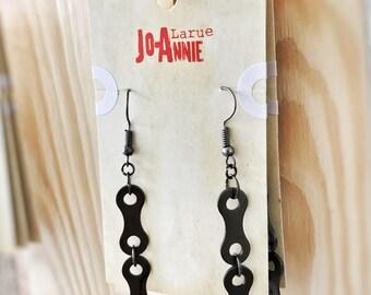 Boucles d'oreilles faites de chaînes de vélo / bicyclette