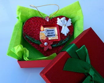 Forever in Our Hearts Paper Quilling Christmas Ornaments