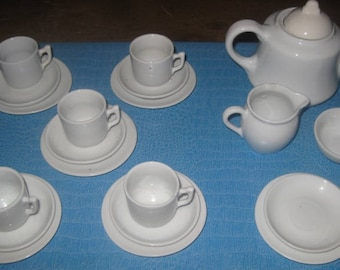 Antique German China Toy Dish Set, 21 Pieces