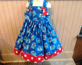 Dr. Seuss The Cat in the Hat Boutique Knot Dress size 2T 3T 4T 5 6