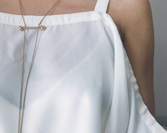 Gold necklace,Sterling silver necklace,gold minimalist necklace,long necklace,ords necklace,simple necklace,gold lariat necklace,gold filled