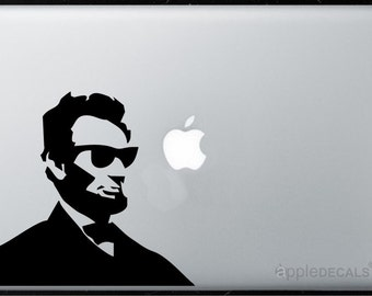 Cool Abe Lincoln All MacBooks Stickers,Decal,