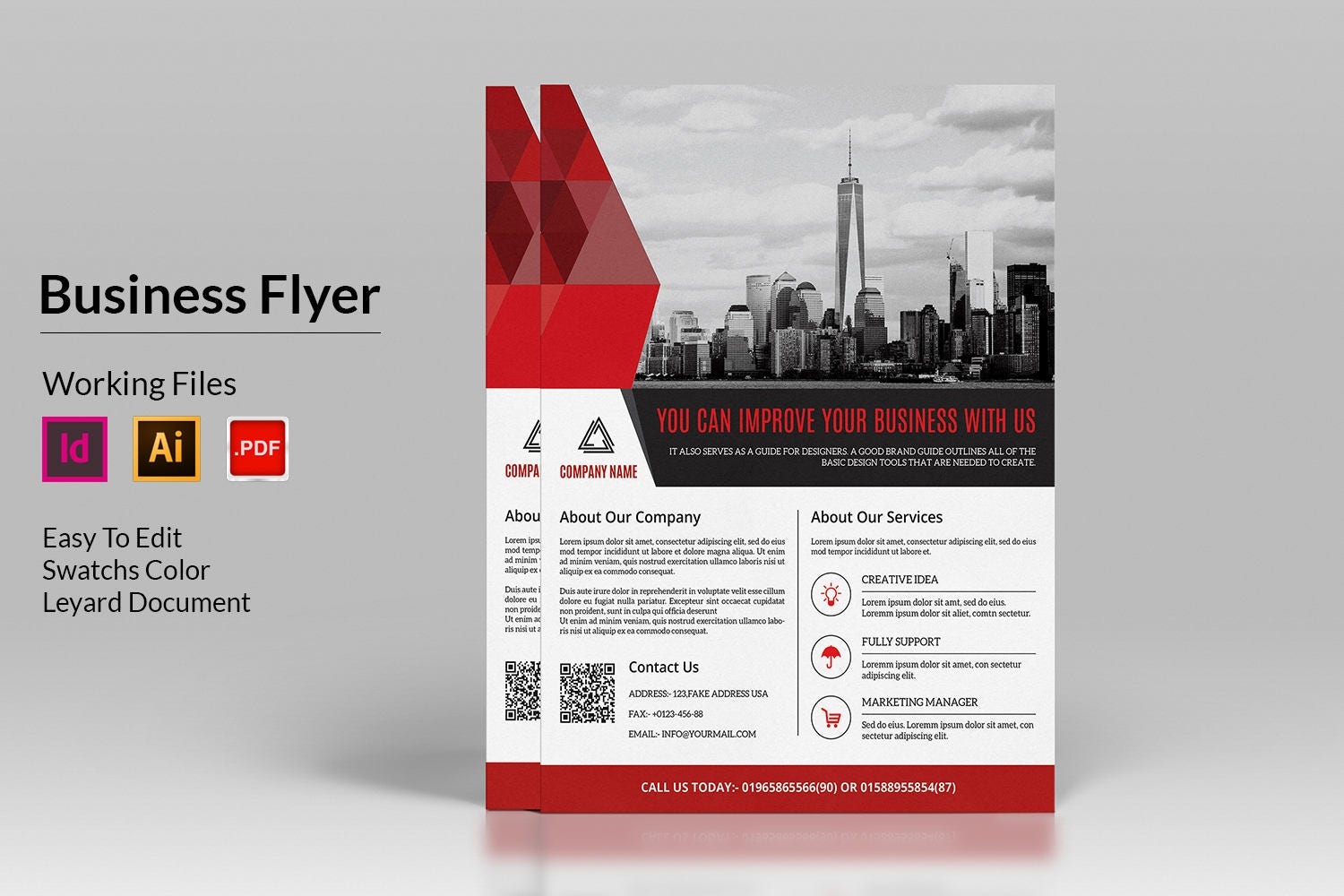 Corporate Flyer Template Business Flyer Ms Word InDesign