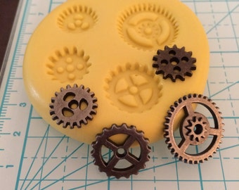 GEARS SMALL Flexible Mold - Makes 4 Gears