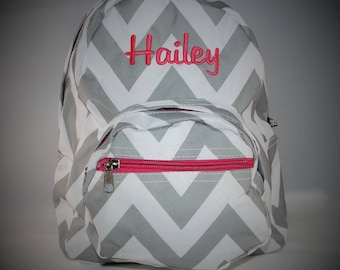 Monogrammed Chevron Toddler Backpack, Monogrammed backpack, toddler backpack, toddler backpack for girls, personalized backpack